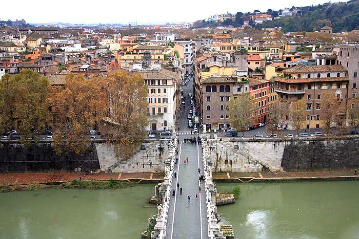 """Vista de Roma do Castelo Sant""""Angelo"""