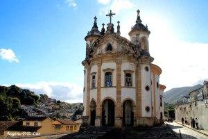 Igreja de Nossa Senhora do Rosário dos Pretos erguida e frequentada pelos escravos negros no Século 18