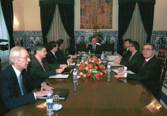 Última reunião de Gabinete do Governador português Vasco Rocha Vieira, antes da transição