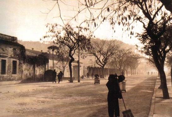 a Avenida Coronel Mesquita no final da Guerra. Um dos caminhos para o Toi San