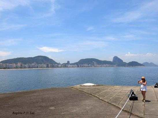 Do topo da casamata, uma vista mais privilegiada do Rio