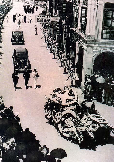 O funeral de Artur Tmagnini Barbosa: uma enorme manifestação de pesar pelo desaparecimento do tri-Governador . em 10 de Julho de 1940