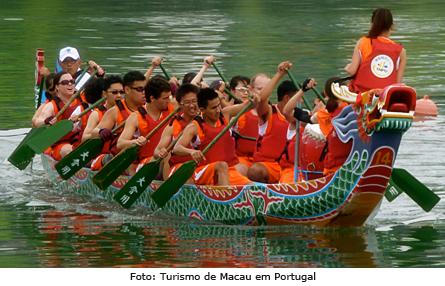 Barcos dragão em Macau