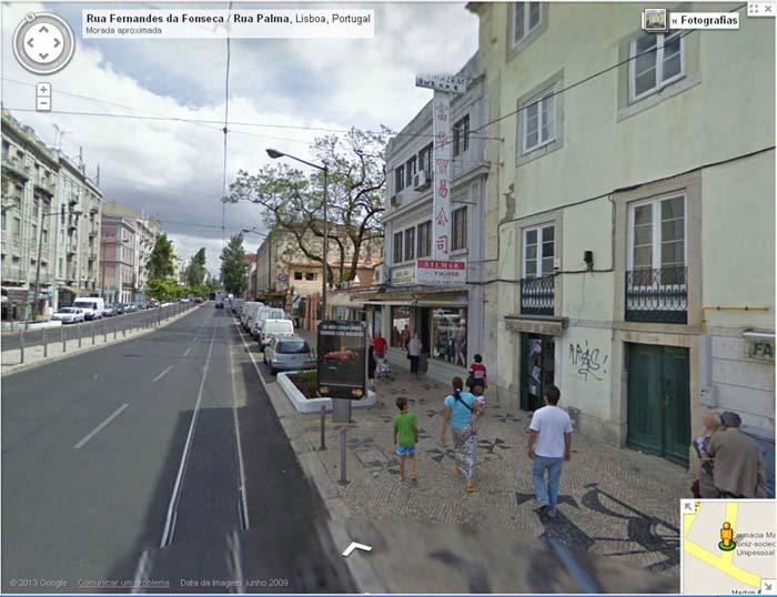 Foto 10 – Mercearias de «lap cheong» em Lisboa, na Rua da Palma (foto Google-2009)