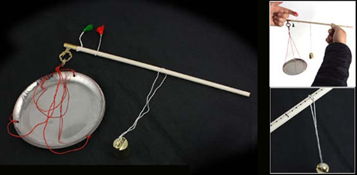 Foto 5 – Balança tradicional chinesa, com o prato, régua e contrapeso