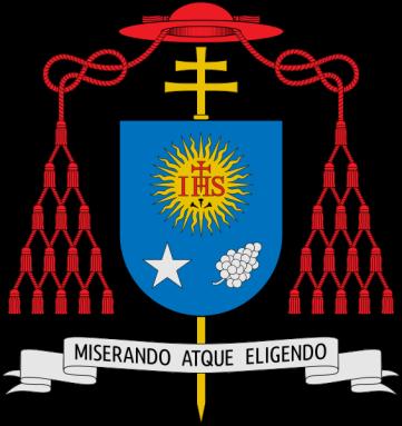 O brasão de Jorge Maria Bergoglio como arcebispo