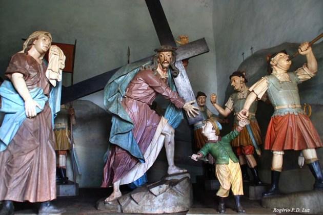Nosso Senhor dos Passos no Santuário do Bom Jesus de Matosinhos, em Minas Gerais, Brasil Obra do Aleijadinho