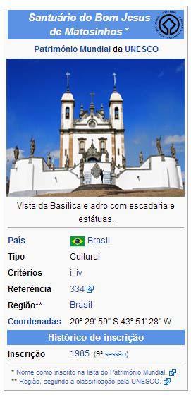 Patrimonio Mundial da Unesco Santuario Bom Jesus.Matosinho