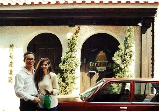 Ah, em 1994, eu aí na foto com a Mia era 19 anos mais jovem.  Tinha passado pouco mais dos 40 anos. Bons tempos!