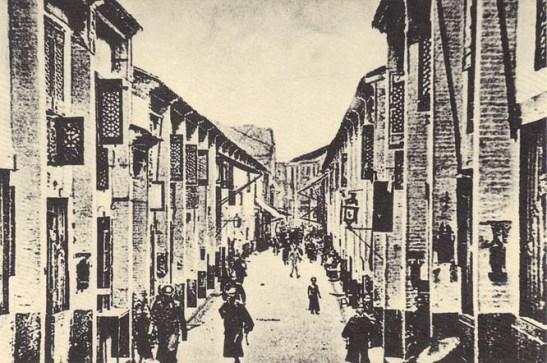 Rua da Felicidade do passado (dos postais de Macau Antigo publicados pelo Instituto Cultural de Macau)