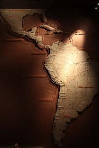 Mapa da América do Sul e Central