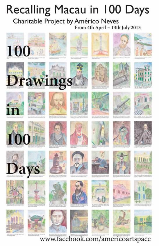 100 desenhs em 100 dias - Américo Neves