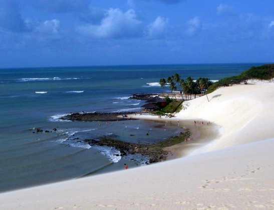 Uma vista do topo das dunas da região mostrada nas primeiras fotos do post (foto de Wikipedia)