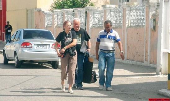 Contato inicial: a nossa chegada à Secretaria de Turismo com o auxílio do Fernando Viana (foto Nilton Marcelino)
