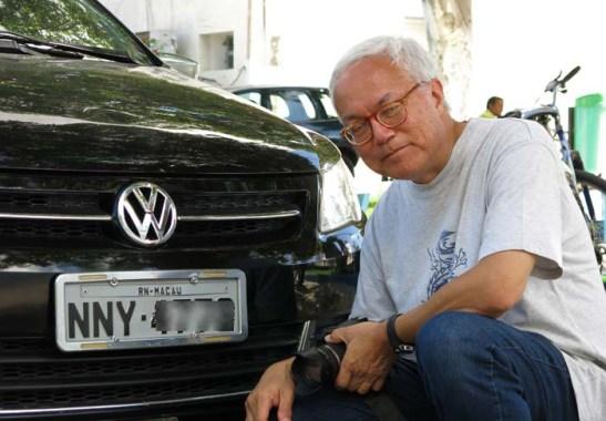 Carro licenciado em Macau, porém, do Brasil