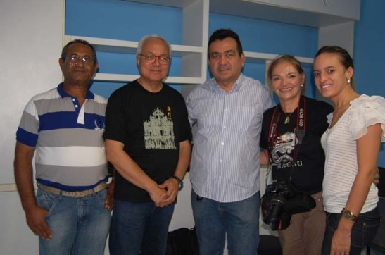 da esquerda: Fernando Viana, Rogério, Arafran (Peter) Lima, Mia Luz e Sâmya Loraine