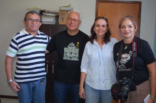 da esquerda: Francisco Guiarães, Rogério, Cleide e Mia Luz (foto Pedro Lima)