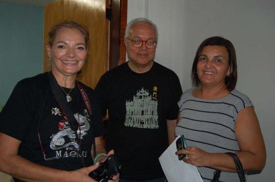 em companhia da Secretária de Planejamento (Planeiamento): Josenete (foto Pedro Lima)