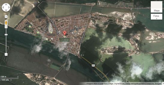 Macau-RN-Brasil no mapa do Google
