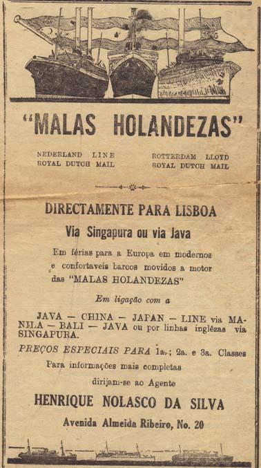 Anúncio no jornal A Voz de Macau edição 23/02/1939