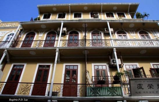 Macau: edifícios avarandados