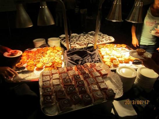 Na festa teve comida macaense e chinesa, além do delicioso pastel de nata (tán tát)