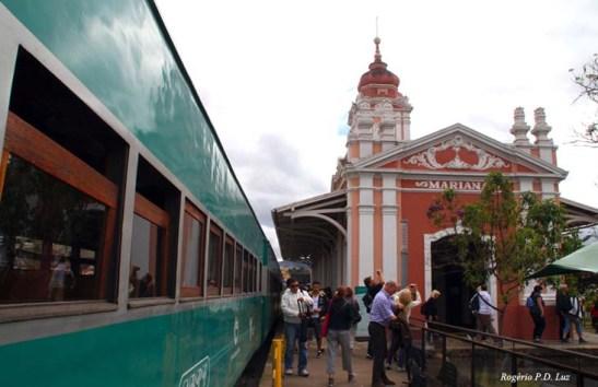 A estação ferroviária de Mariana