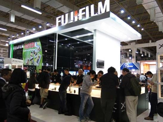Stand da FUJIFILM onde foram feitas as fotos