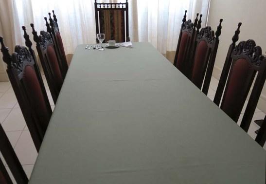 Mesa posta para o Papa