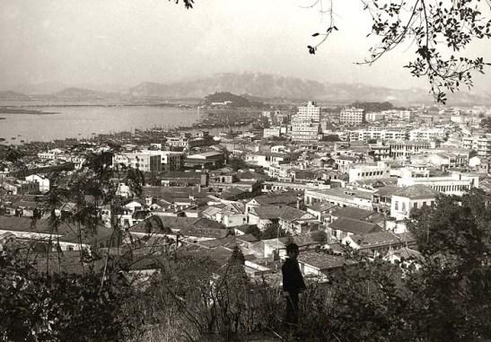 Macau 1950 - vista da Colina da Penha