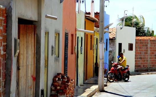 Moradias na vila dos pescadores em Macau