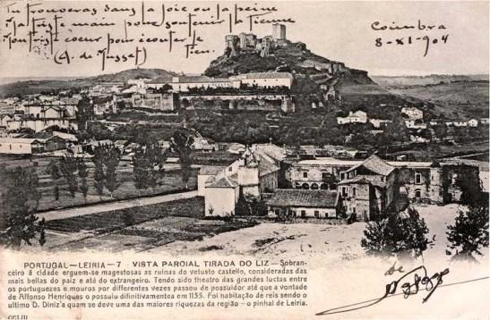 Leiria - Vista parcial tirada do rio Lis (c. 1904)