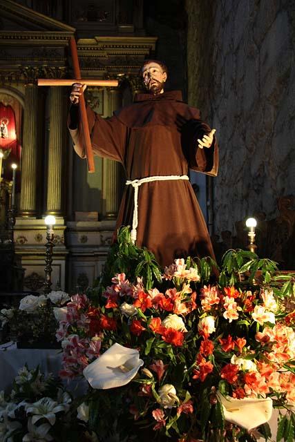São Francisco, imagem da Igreja católica de seu nome em Santiago do Chile