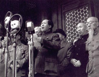 Em 1 de outubro de 1949, Mao Tsé-Tung proclamou a criação da República Popular da China