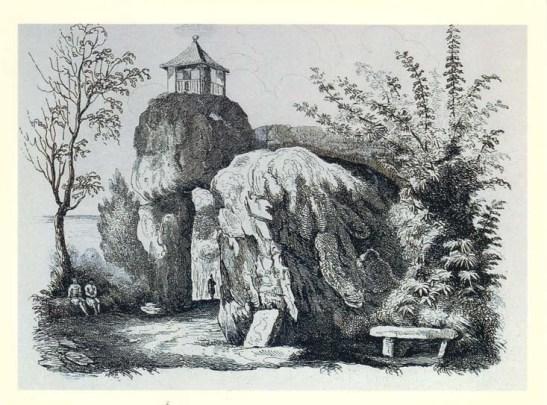 """""""Gruta de Camões"""" gravura (188…) do Arquivo Histórico Ultramarino"""