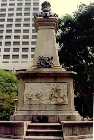 Estátua no Jardim Vasco da Gama