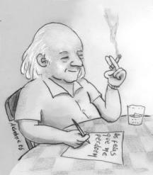 Caricatura de André Koehne (Wikipedia)