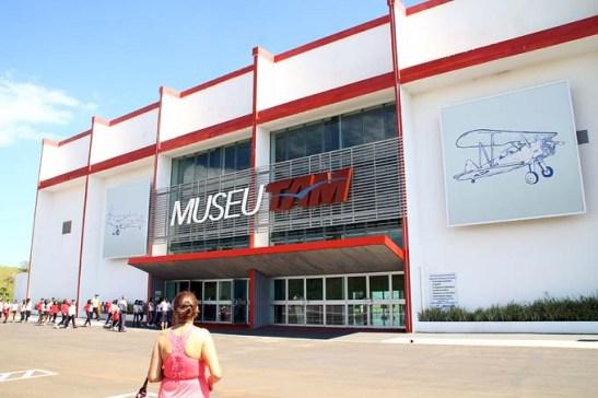 Museu TAM. O prédio de recepção e venda de bilhetes.