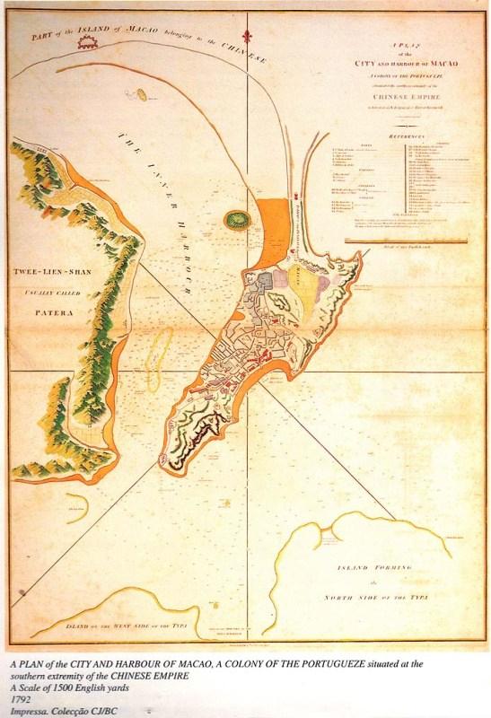 Macau mapa 1792