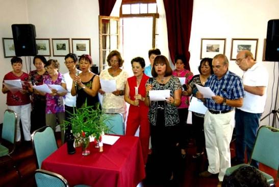 O coral Vozes de Macau improvisou uma canção chinesa