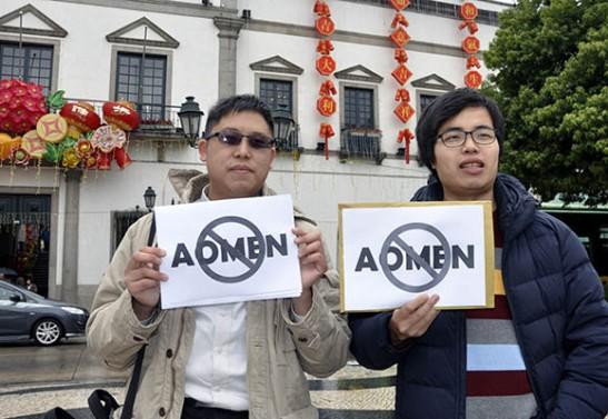 Foto de Wong San publicada no Jornal Tribuna de Macau