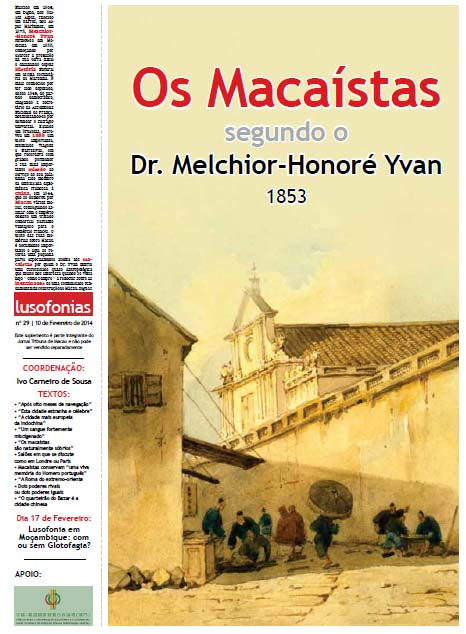 OS MACAÍSTAS - Jornal Tribuna de Macau - 10-02-2014 - Lusofonias
