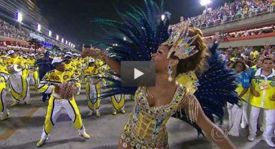 Imagem do vídeo divulgado na página da G1 da Globo. Clicar na imagem para acessá-la e ver 6 vídeos resumidos do desfile em alta definição