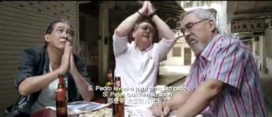 A filmagem foi feita numa viela tranquila de Macau