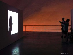 Projeções interativas de Jin Jiangbo