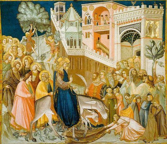 Domingo de Ramos gravura de Pietro Lorenzetti 1320