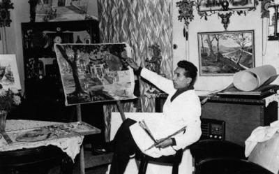 Herculano Estorninho no seu atelier