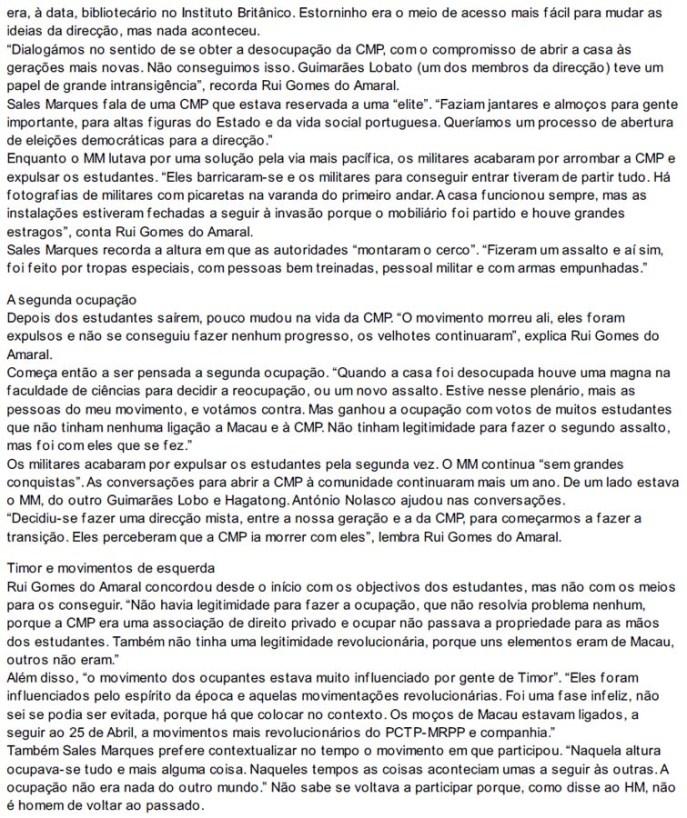 Hoje Macau 04.2014 ocupação Casa Macau Portugal (2)