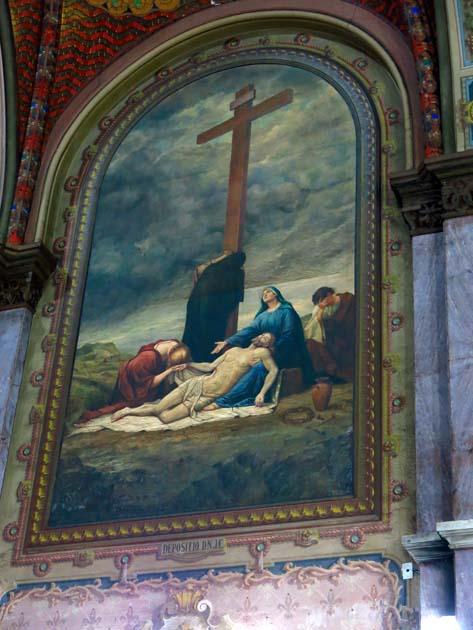 Pintura na Igreja de Santa Ifigênia, em São Paulo