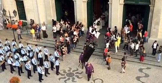 Imagem capturada do vídeo publicado na página da Sé Cathedral Macau no Facebook